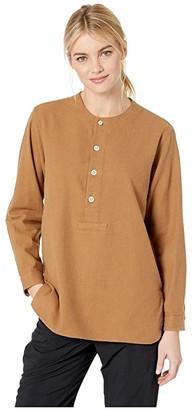 Snow Peak Cotton/Wool Flannel Sleeping Shirt (Brown) Women's Pajama