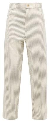 Haider Ackermann Chanda Striped Cotton Trousers - White Multi