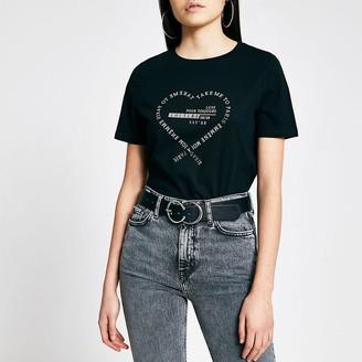 River Island Black 'Take me to Paris' print T-shirt