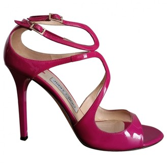 Jimmy Choo Lance Pink Patent leather Sandals
