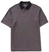 Roundtree & Yorke Big & Tall Short-Sleeve Jacquard Solid Polo