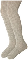 Jefferies Socks Cotton Rib Tights 2-Pack (Toddler/Little Kid/Big Kid)