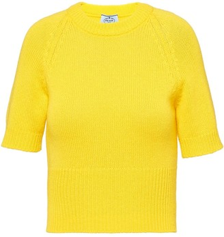Prada Crew Neck Knitted Top