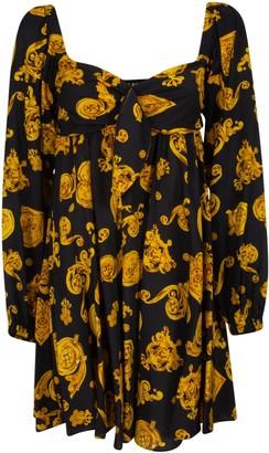 Versace Twill Gioielli Print Dress