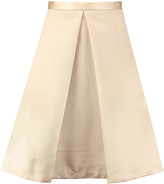Tibi Pleated satin skirt
