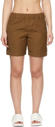 Ader Error Brown Distressed Shorts