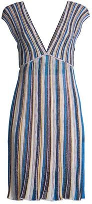M Missoni Sleeveless V-Neck Mini Dress