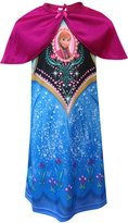 Disney Frozen Dress Like Anna Nightgown With Cape for girls