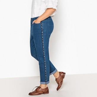 "Castaluna Plus Size Embroidered Boyfriend Jeans, Length 28"""