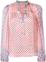 Ulla Johnson floral-embroidered sheer blouse