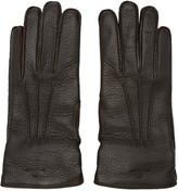 Belstaff Brown Leather Buckle Gloves