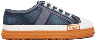 Martine Rose Blue Denim Low Basketball Sneakers