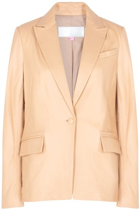 The Mighty Company Hoxton Sand Leather Blazer