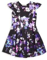 Halabaloo Little Girl's & Girl's Vibrant Floral A-Line Dress