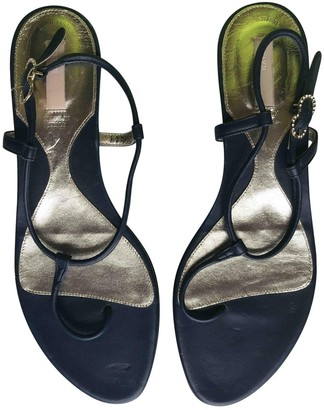 Bally Blue Leather Sandals