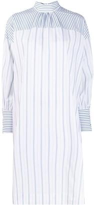 Ganni Contrast Striped Shift Dress