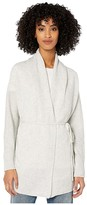 Vince Drape Front Cardigan (Platinum) Women's Clothing