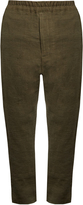 BY WALID David antique linen trousers