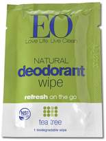 EO Tea Tree Certified Organic Deodorant Wipe Set by 6pcs Wipe)