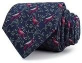 Thomas Pink Bird On Branch Woven Classic Tie