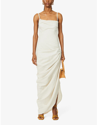Jacquemus La Robe Saudade Longue woven maxi dress