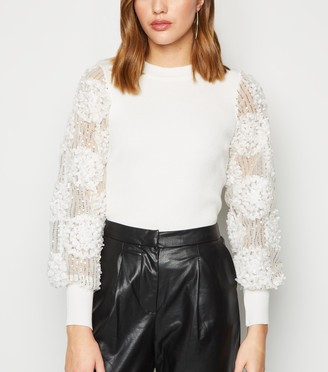New Look Cameo Rose 3D Sequin Sleeve Jumper