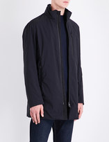 Armani Collezioni Faux-fur-lined quilted raincoat