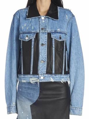 Amiri Contrasting Panelled Denim Jacket