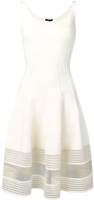Alexander McQueen Stitch Fitted Midi Dress
