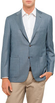 Canali Wool Houndstooth Half Lined Jacket