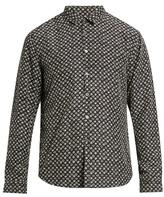 John Varvatos Swirl-print Sandwashed-silk Shirt