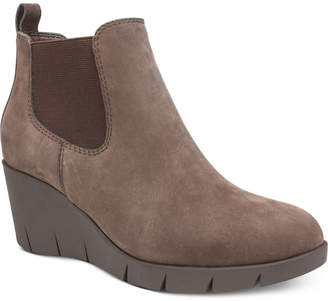 White Mountain Cliffs by Percy Wedge Booties Women Shoes