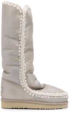 Mou Eskimo Tall metallic boots