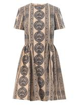 Valentino Bambolina gryphon stripe-print dress