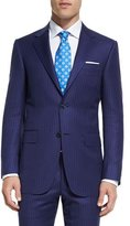 Canali Sienna Contemporary-Fit Tonal-Stripe Two-Piece Suit, Blue