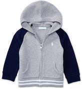 Ralph Lauren Boy Cotton Hooded Full-Zip Sweater