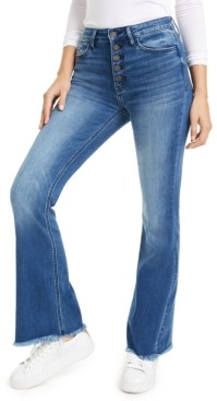 Flying Monkey Fray-Hem Flare Bootcut Jeans