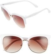 BP Women's 55Mm Square Sunglasses - Pink