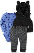 Carter's 3-Pc. Hooded Fleece Vest, Bodysuit & Pants Set, Baby Boys (0-24 months)