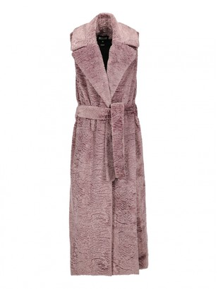 MSGM Purple Leather Coats