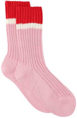 Prada Ribbed Crew Socks