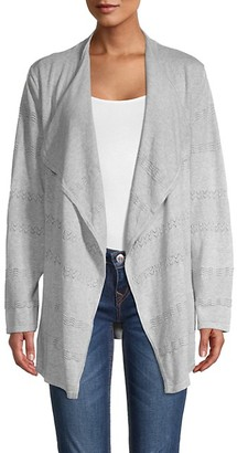 Calvin Klein Perforated Cotton-Blend Cardigan