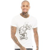 Blend Mens Graphic T-Shirt White