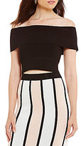 Gianni Bini Clay Cropped Ribbed Sweater