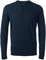 Zanone longsleeved henley T-shirt - men - Cotton - 48