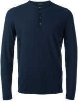 Zanone longsleeved henley T-shirt - men - Cotton - 50