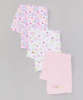 SpaSilk Pink 'Baby' Burp Cloth Set