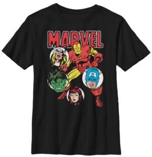 Fifth Sun Marvel Big Boy's Classic Avenger Squad Short Sleeve T-Shirt