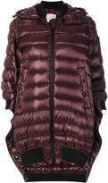 Moncler asymmetric hooded puffer jacket
