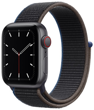 Apple Watch SE GPS + Cellular, 40mm Space Gray Aluminum Case with Charcoal Sport Loop